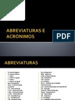 ABREVIATURAS E ACRÓNIMOS