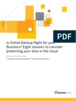 White Paper Ext Backup Exec Cloud Eight Reasons to Consider Protecting Your Data in the Cloud NAM Sep11