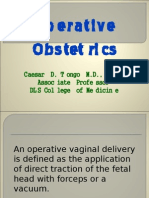 Ob - Operative Obstetrics