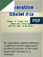 Ob - Operative Obstetrics