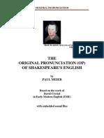 Original Pronunciation of the Phonetics