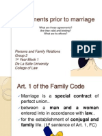 Agreements Prior to Marriage2