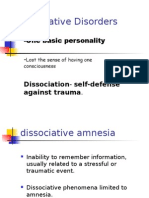Psych- Dissociative Disorders