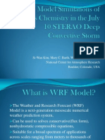 WRF Model Simulations of Aqueous Chemistry