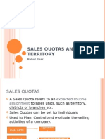 Sales Quotas and Territory