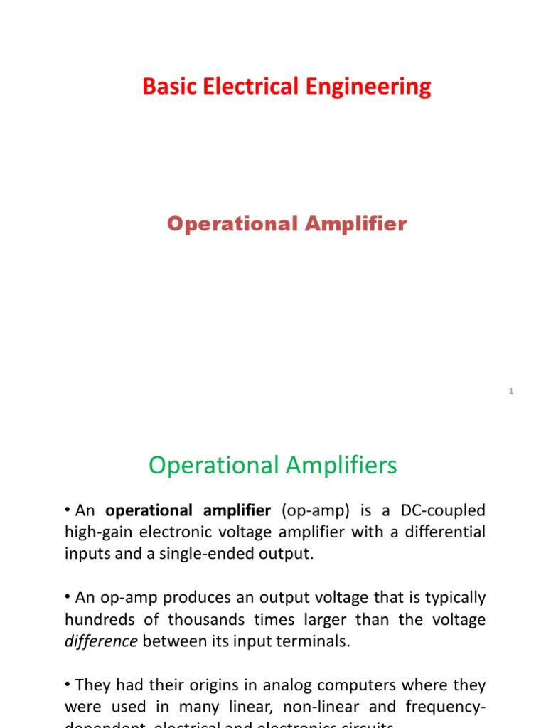 Ipg Iiitm Op Amp Operational Amplifier The Amplifiers Electronics