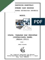 MODUL STATA -TAHAPAN DAN PERINTAH (SYNTAX) MENGOLAH DATA PANEL (2011)