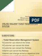 Online Railway Ticket Reservation System