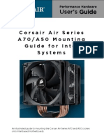 Corsair A70-A50 Mounting Information - Intel