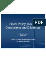 Prabhu Fiscal Policy