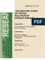 Exploratory Study of Partial Isolation of Highway Bridges