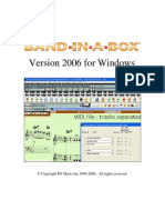 Band in a Box 2006 Upgrade Manual