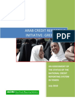 ACRI-MENA ASSESSMENT OF THE STATUS OF THE NATIONAL CREDIT REPORTING SYSTEM IN YEMEN July 2010
