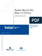 Russia Should Not Miss its Chance