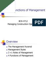 Roles of Management