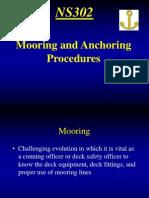 Mooring and Anchoring