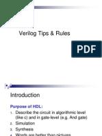 Verilog Tips & Rules