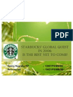 Starbucks Strategy Choice