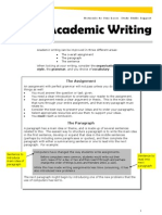 Academic Writing and Style