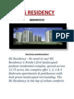 Rg Residency in noida sec 120 call @ 8800496200