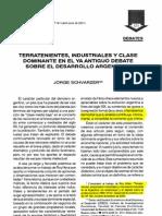 Jorge Schvarzer · 2001 · Terratenientes ales y Clase Dominante en El Ya Antiguo Debate Sobre El Desarrollo