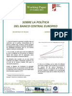 SOBRE LA POLÍTICA DEL BANCO CENTRAL EUROPEO - ON THE POLICY OF THE EUROPEAN CENTRAL BANK (spanish) - EUROPAKO BANKU ZENTRALAREN POLITIKAZ (espainieraz)
