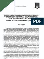 Roy Hora · 2000 · Terratenientes Empresarios ales y Crecimiento Industrial en La Argentina