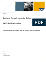 System Requirement for SAP B1