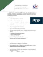 Questionário sobre a identificação da Unidade de Produção