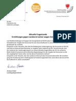 Ermittlungen gegen Landesrat Laimer - Amtsmissbrauch? Landtagsanfrage der BürgerUnion