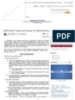 Definition,Type and Issue of Debentures - Accounts Articles - Chartered Accountants India,Taxpayers, CA India, CWA ,ICAI, Company Secretary ,CS, Cost Accountants, MBA, Finance Professionals
