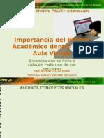 Importancia del Bloque Académico de un Aula Virtual