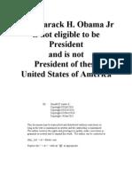 Why Barack H Obama Jr is Not President