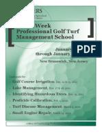 Rutgers 3 Week Golf Turf Management Course - Jan 9-27, 2012