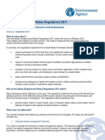 Waste [England and Wales] Regulations 2011 - Quick Guide