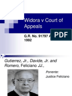 Widora v Court of Appeals
