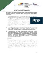 DECLARAÇÃO DE LIMA 2009