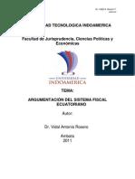 MODULO DE ARGUMENTACIÓN DEL SISTEMA FISCAL ECUATORIANO