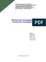 Papel de Trabajo Evaluacion Andragogica y Pedagogic A