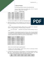 Chem 156 4th Departmental Exam Advanced Problems