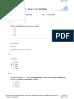 Numerical Aptitude Numbers 1