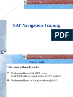 SAP Navigation Training2