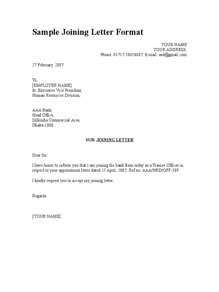 1495595953 – Sample Letter Format