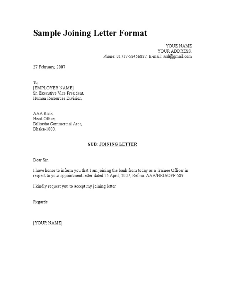 Job Letter Format Proof Of Employment Letter Template Proof Of