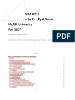Abstract Algebra Course Notes Math 235