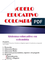 MODELO EDUCATIVO COLOMBIA