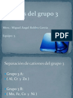cationes grupo 3