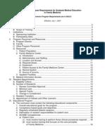 ACGME Program Requirements