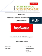Private Labels of Foodword and Its Performance