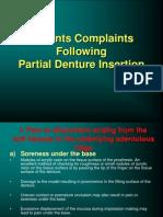 RPD Patients Complaints